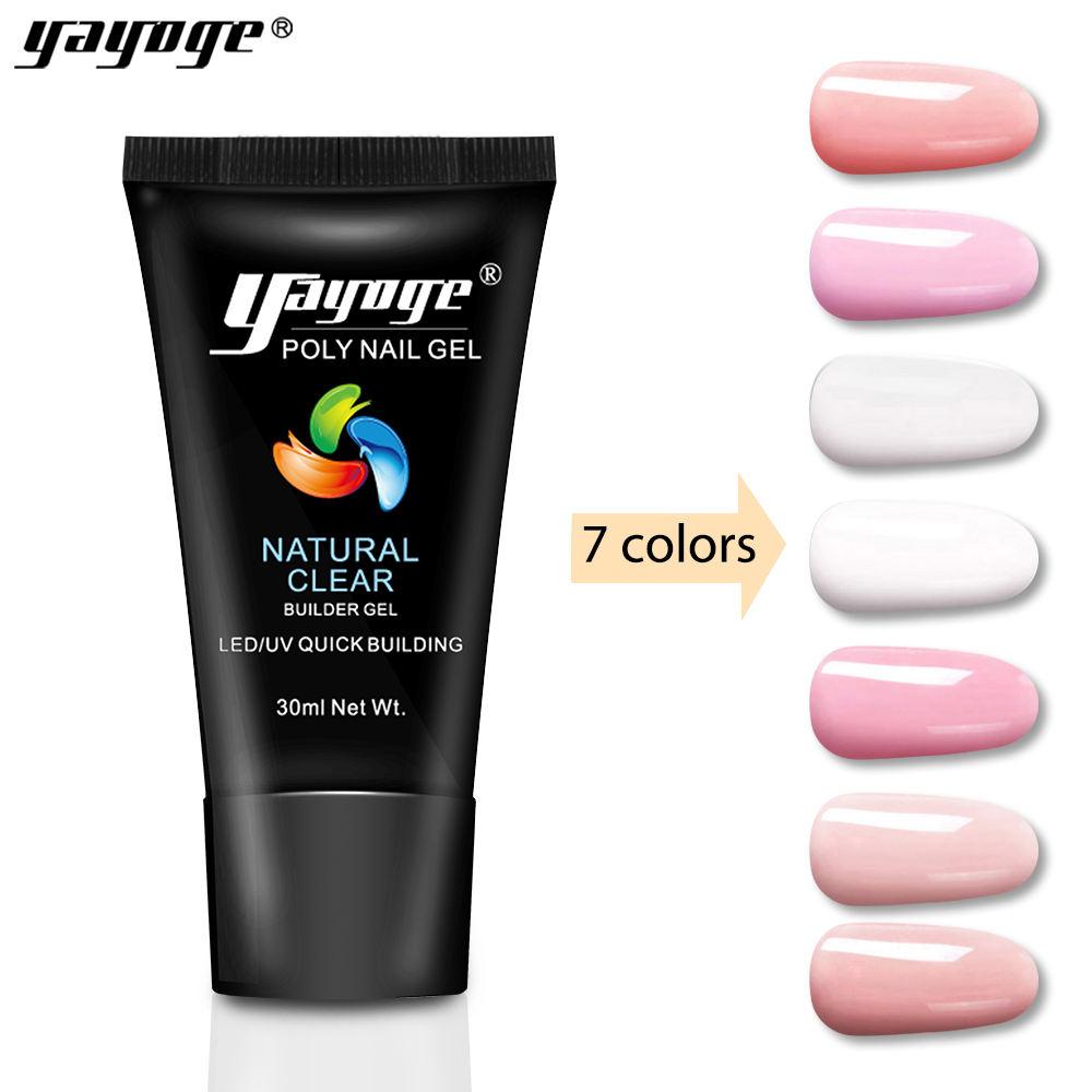 Yayoge rápido extensión polygel 30 ml UV de gel para diseños de uñas de arte