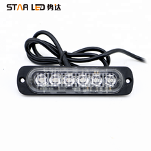 12v 6 LED Emergency Light Amber Red Blue 3 watt Truck Strobe LED Warning strobe Light