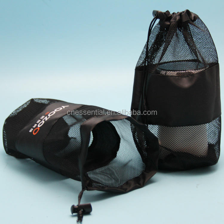 New nylon polyester small net mesh draw string equipment carry bag