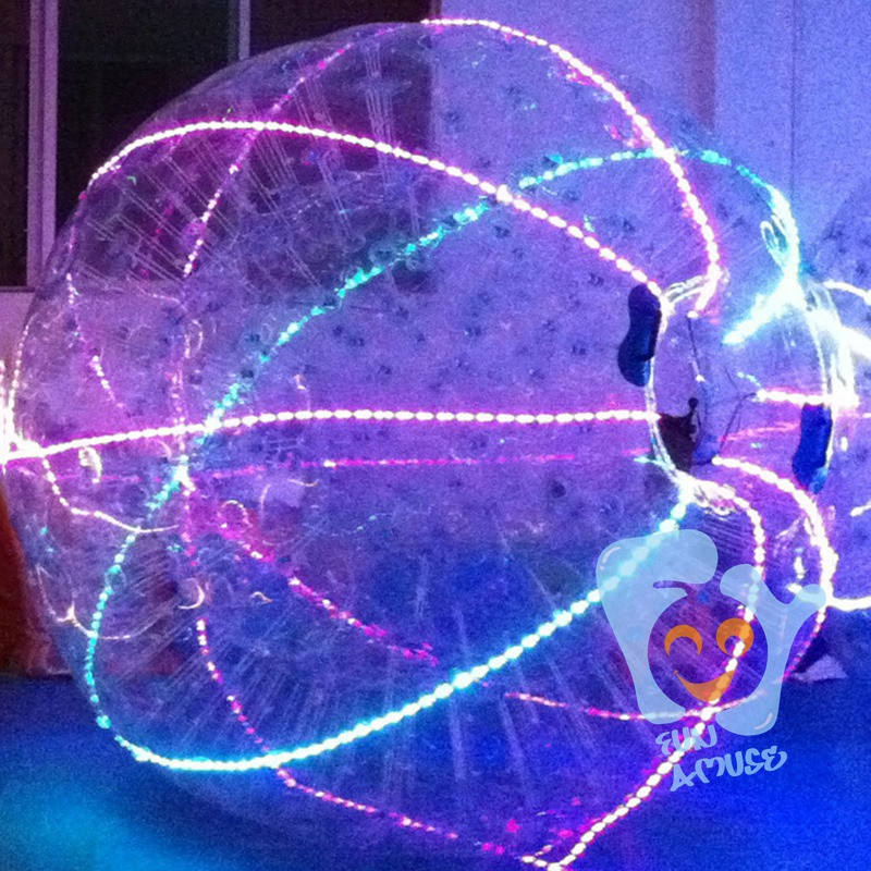 LED adult outdoor football inflatable body zorb ball