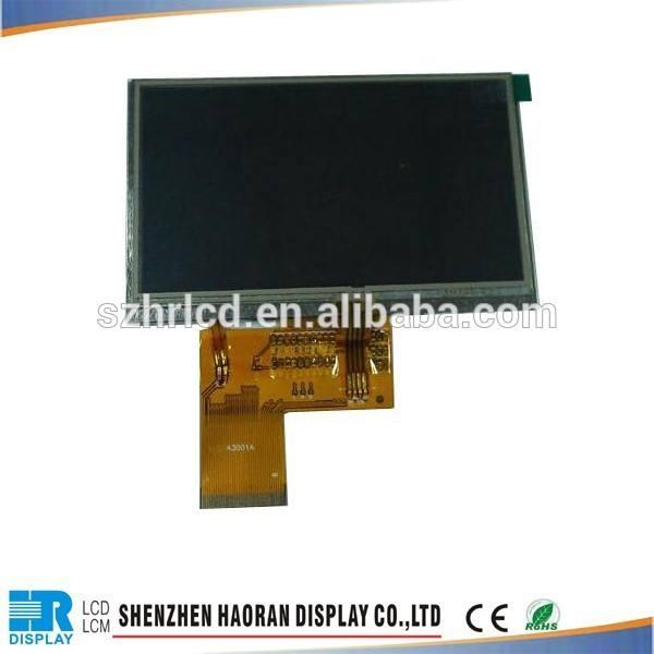 Tft 4.3 módulo lcd com painel de toque resistivo com mcu 16 pouco interface display lcd- resolução: 480x272