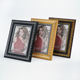 High Quality Desktop Fine Pattern Gold Silver PS Photo Frame, Fancy Carved Plastic Picture Frame