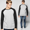 Baseball Tee Plain Shirt Long Sleeve Space Dye Raglan T Shirt Manufacturer Bangladesh Wholesale Mens Raglan Tee Shirt