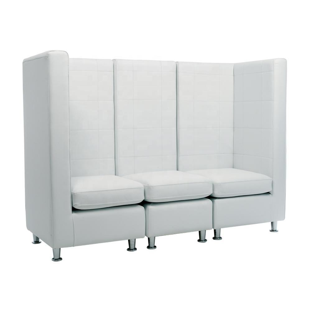 3 Seat [ Sectional Sofa ] High Back White Party Sectional Sofa