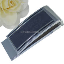 Wholesale customized flat spring metal zinc alloy money clip with logo
