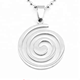 Yiwu Aceon Stainless Steel Blank Jewelry 30mm Diameter Hollow Circle Spiral Pendant