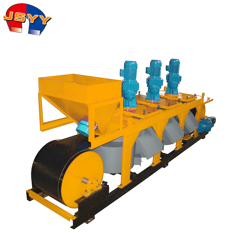 High degree disc type electromagnetic separator for dry granular mineral products purification and concentration