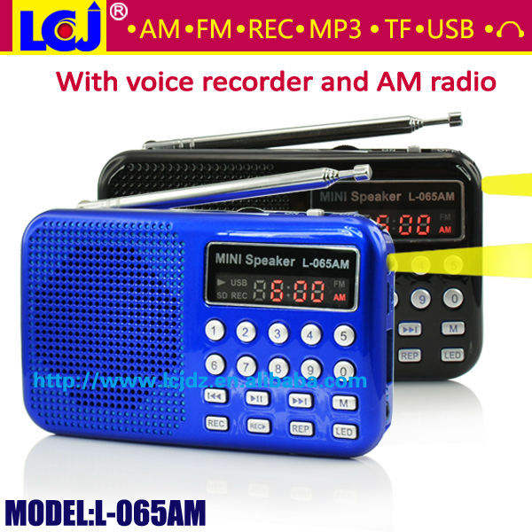 L-065AM 2018 mp3 player AM FM radio voice <span class=keywords><strong>recorder</strong></span>, multifunzionale registratore vocale digitale