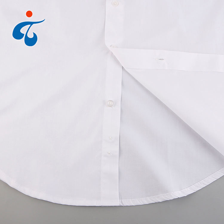Online shopping custom wholesale plain dyed long sleeve men's uniform white shirts for school