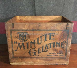 Advertising Crate Antique Wood Crate Wooden Crate Wood Box