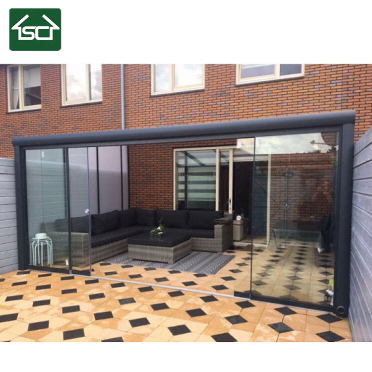 Wholesale price veranda aluminum frame glass roof gazebo