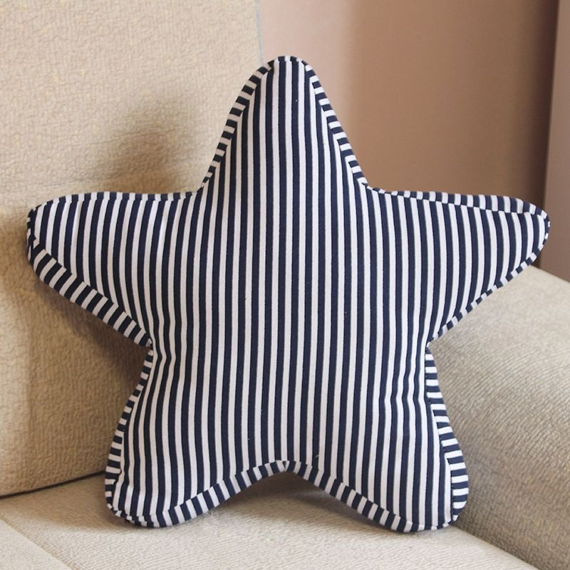Pentagram Shape Cushion Bed Backrest Support Throw Pillow with Pillow Insert, Size: 45 x 45cm