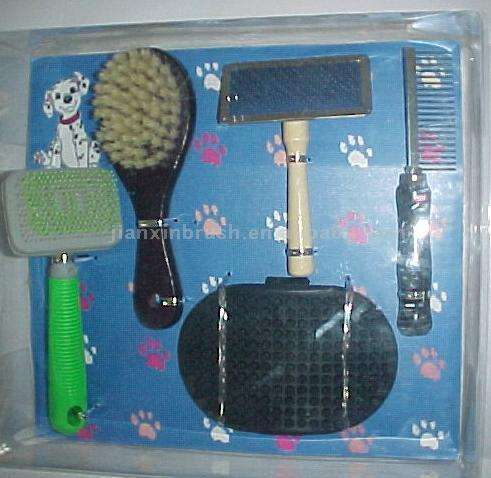 Mix Packing Pet Dog Cat Animal Puppy Poodle Hair Grooming Cleaning Shedding Brush Comb Set