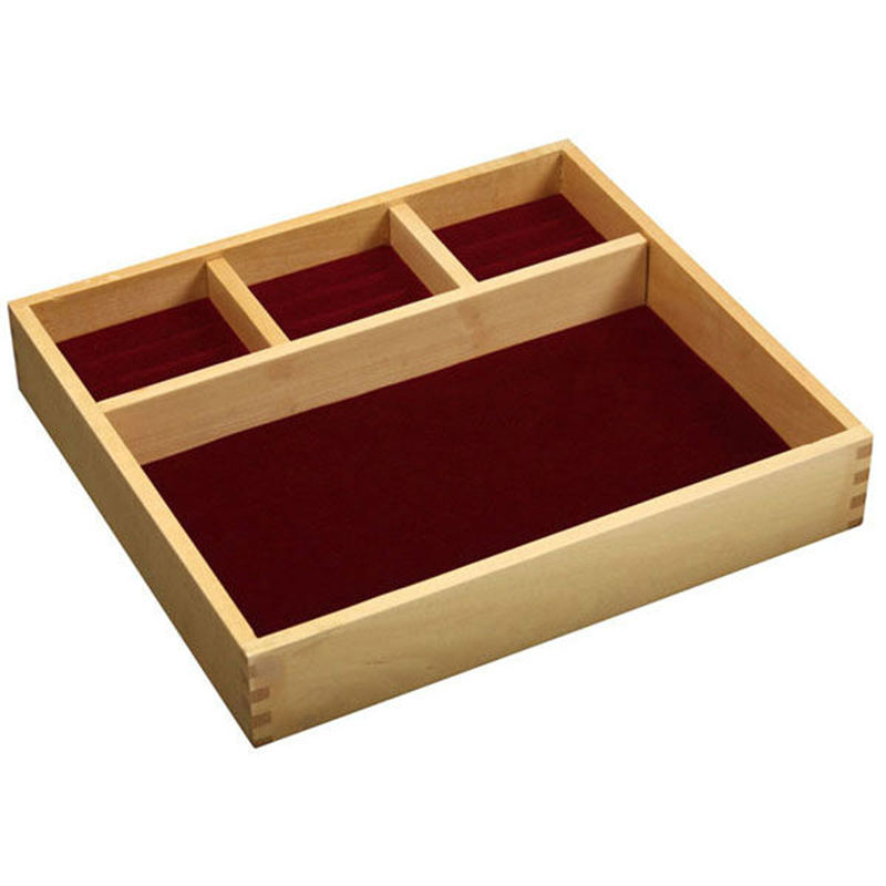 wood compartment flatware tools organizer tray with divider for jewelry storage box