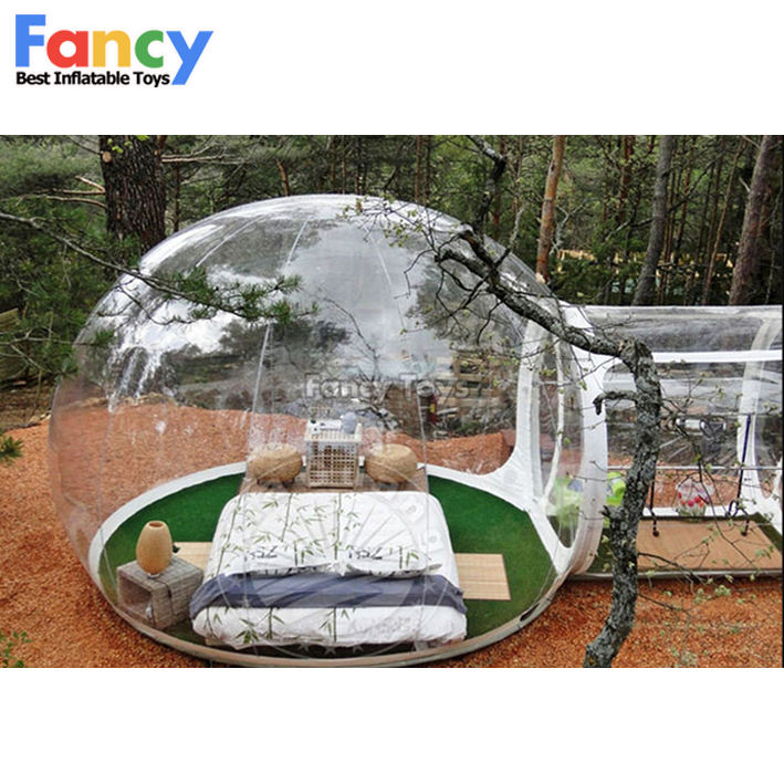CE House camping!inflatable crystal bubble tent,large christmas inflatables,clear inflatable lawn tent FT03