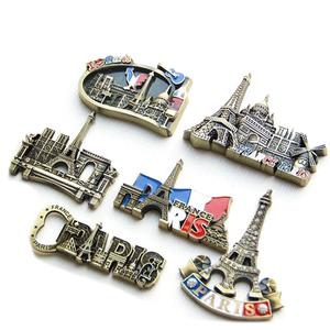 Custom metal made funny custom 3d refrigerator tourist souvenir fridge magnet