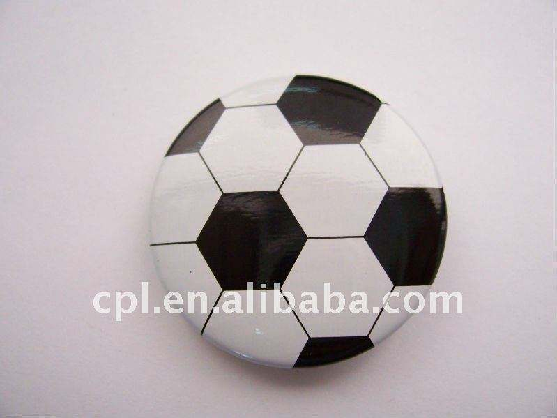 2 colour 2c printing football pattern tin button badges