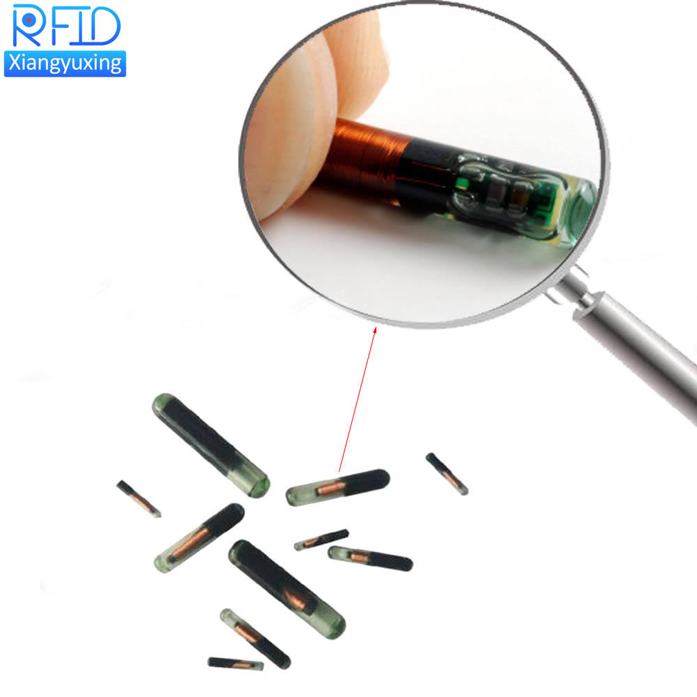 Animal ID Microchip Animal tracking RFID 13.56mhz NFC tag glass capsule animal chip