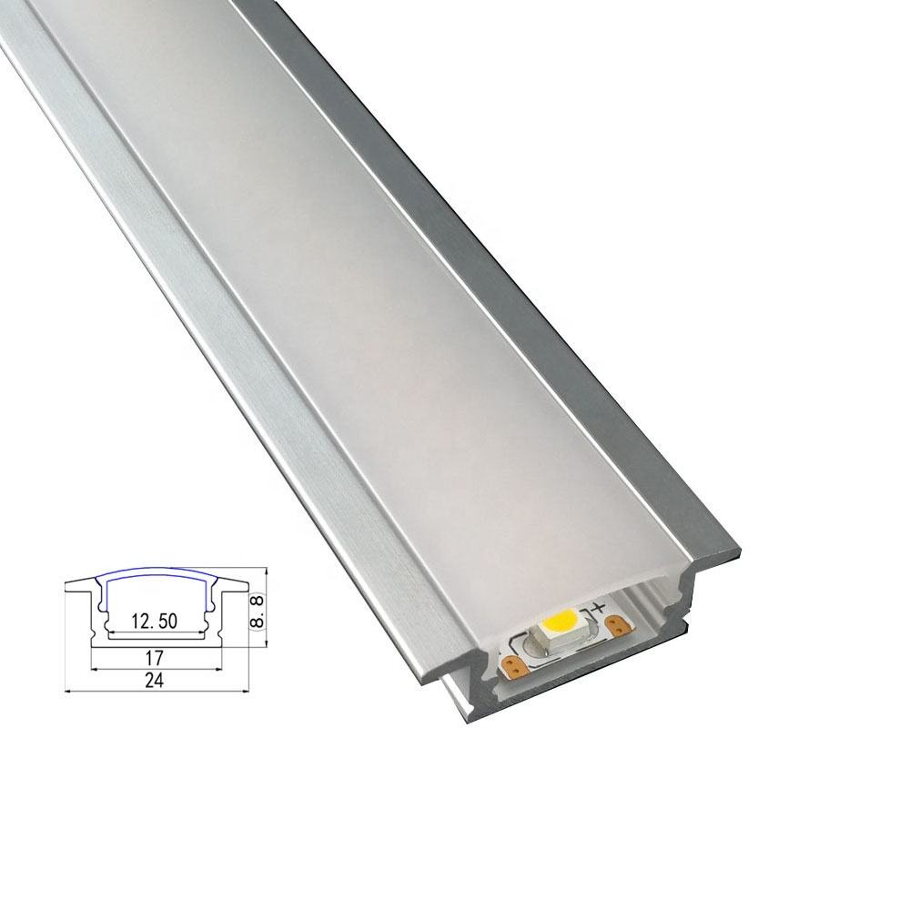 Led Aluminium 2m Recess Profile White Frosted Lid