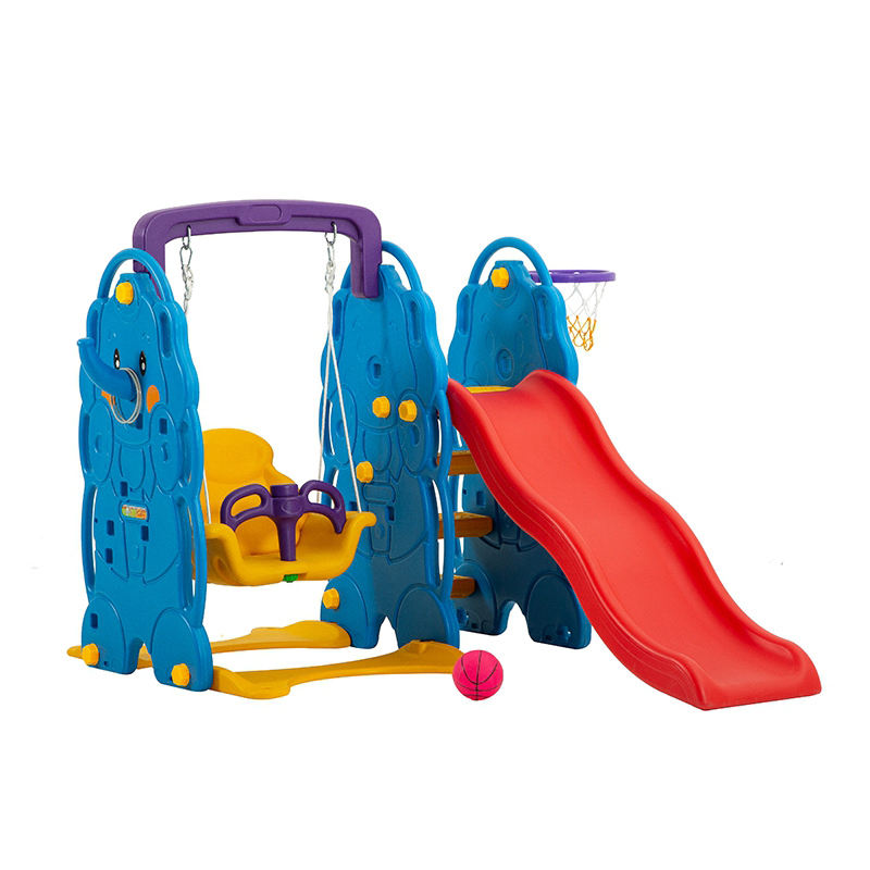 Kids family indoor combination playground slide and swing set toys for sale