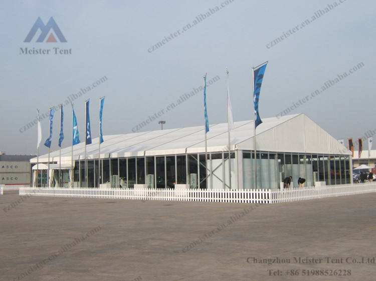 Competitive white marquee tent for sale with glass hard wall