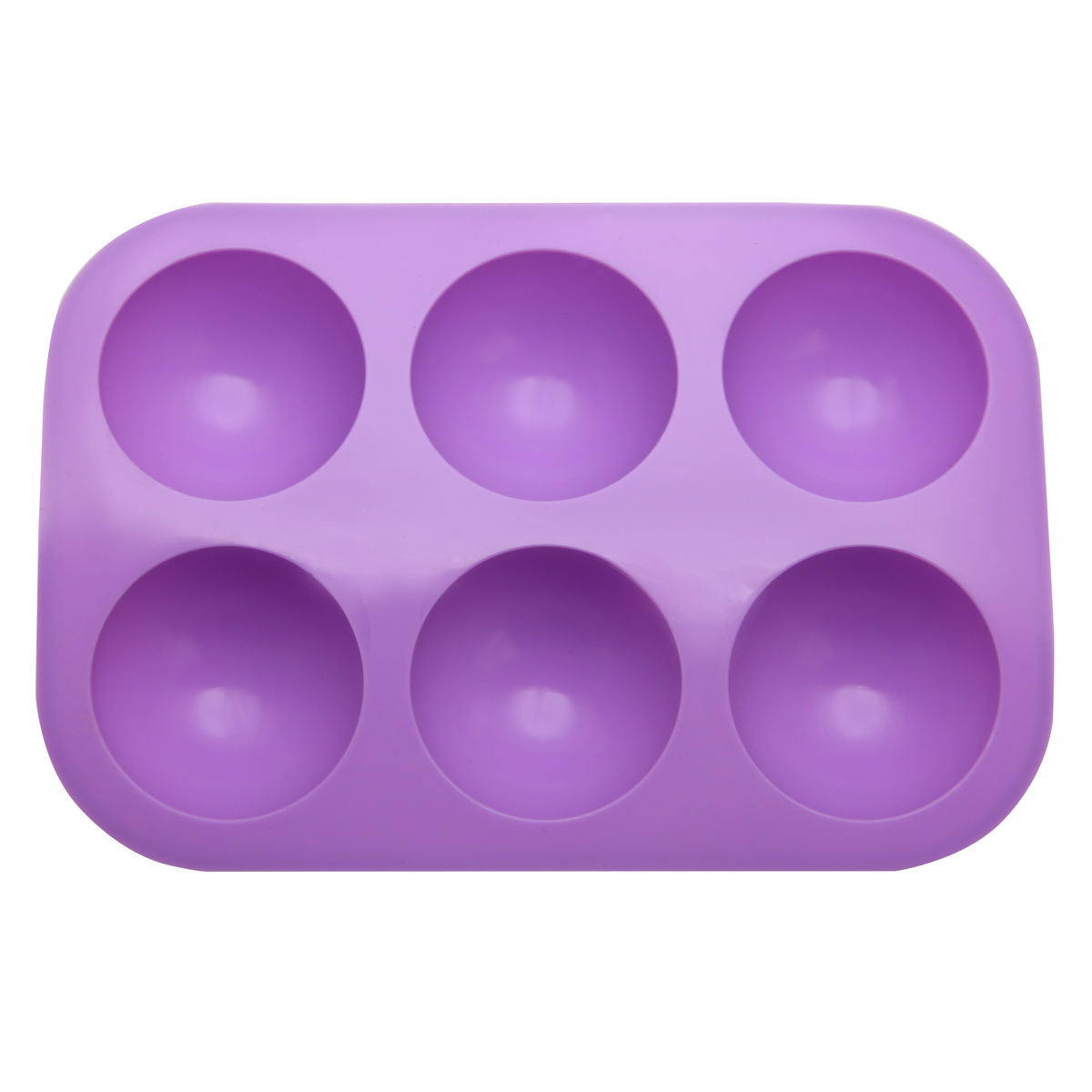 Wholesale 6 Cavities Half Sphere Handmade Soap Making Molds Silicone Baking Mold