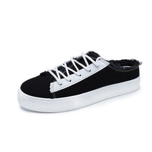 World best selling products flat shoes women casual platform summer lazy canvas casual shoes