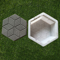 Plain Smooth Hexagon 9 inch Patio Paver Stepping Stone Concrete Mold
