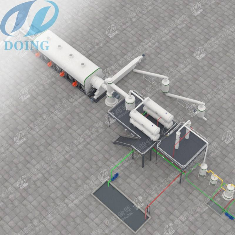 High efficiency continuous waste plastic recycling pyrolysis plant low price