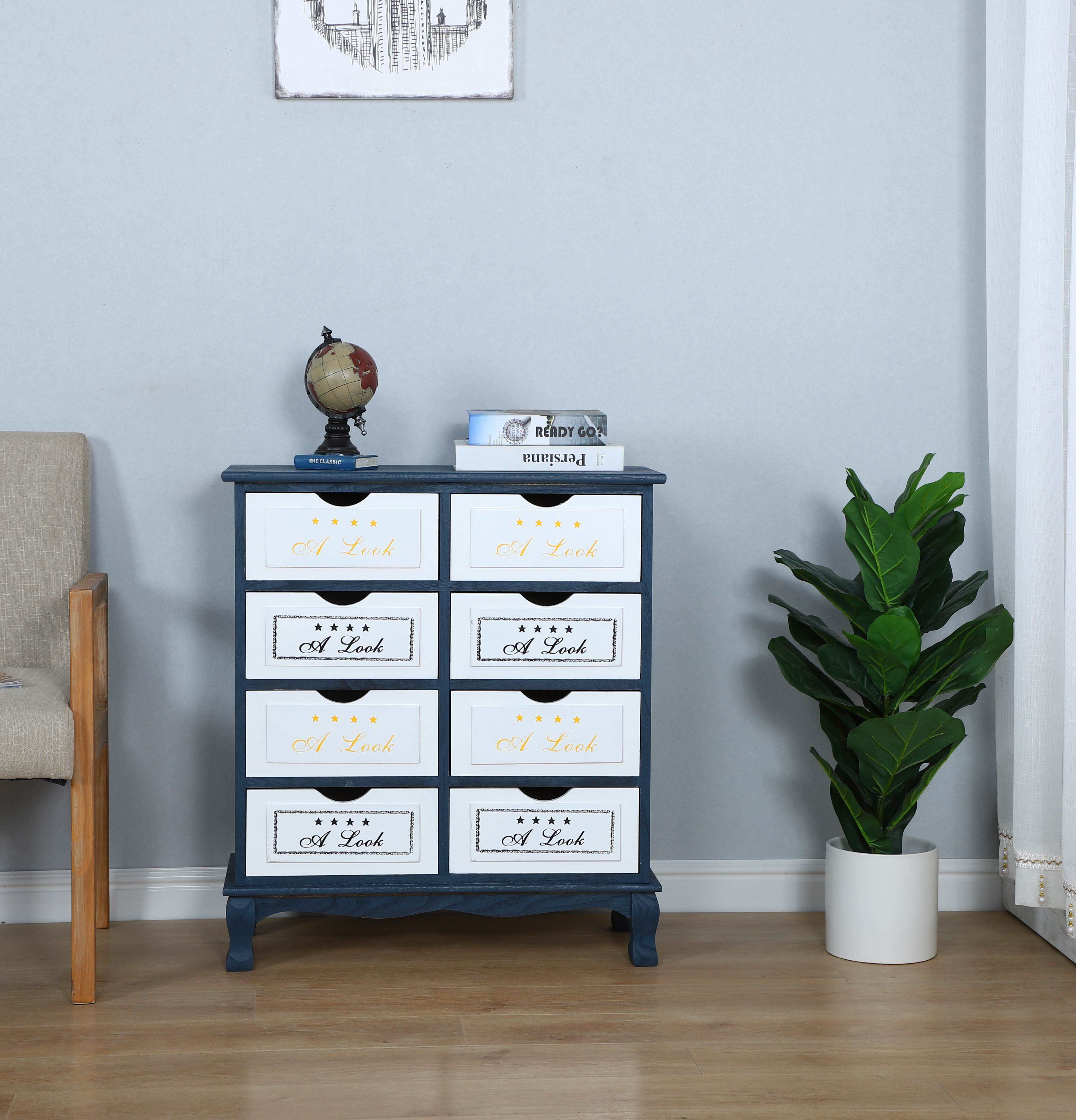 New design 8 Drawer Chest Storage drawer Cabinet for Home furniture