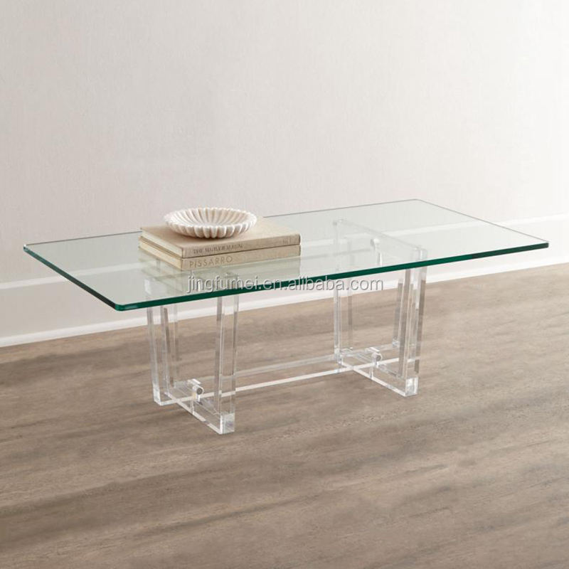 Lucite Woonkamer Meubels Acryl Sofa Center Salontafel/Thee Tafel