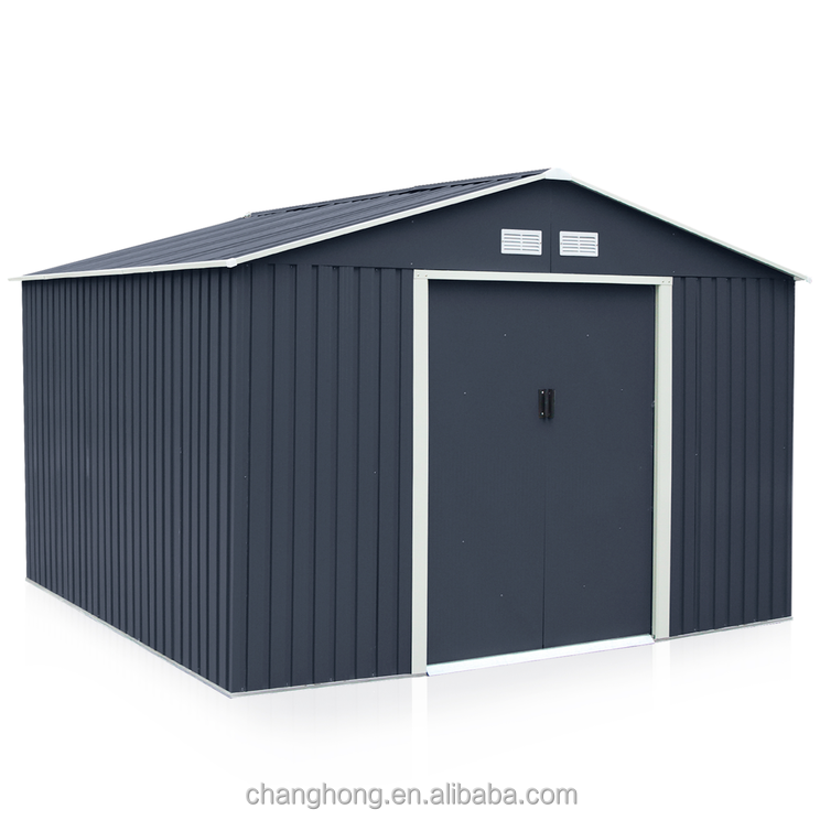 10x10ft Garden Shed Sliding Door Metal Storage Shed