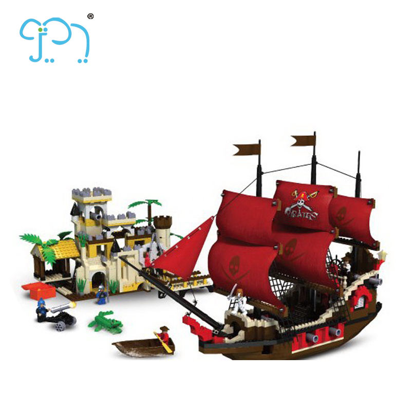 Nano Block Toys Building Block Set 1000 PCS Pirate Ship Toys For Kids V Plastic Block With EN71 Certificate