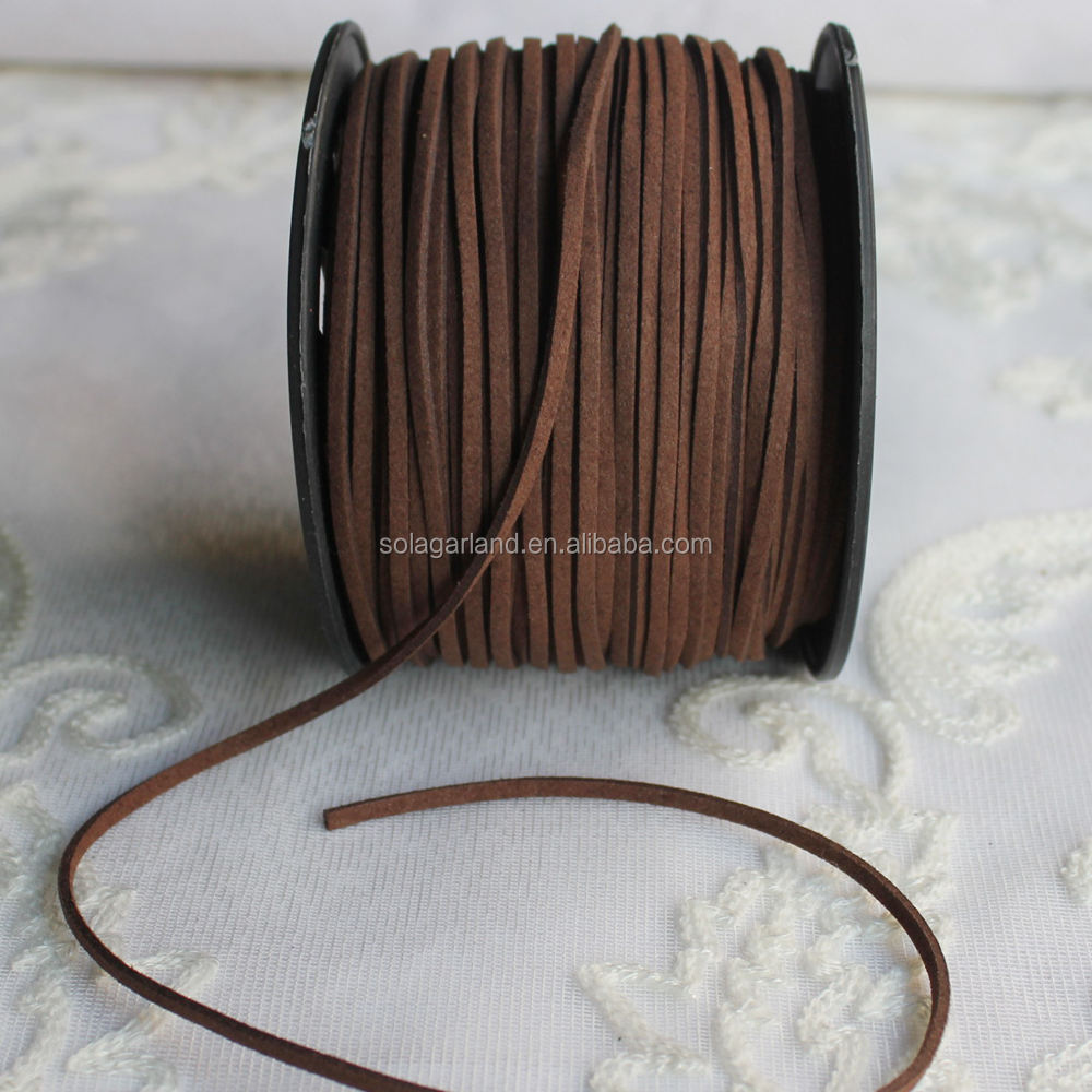 100yards/roll Leather Lace Beading Thread Faux Suede Cord String with Roll Spool