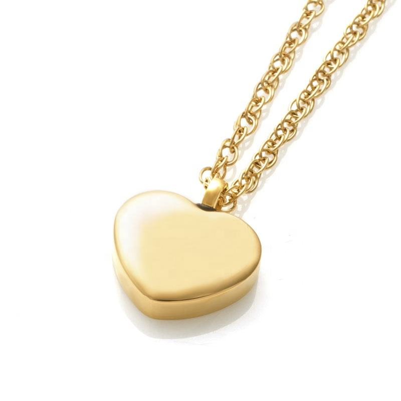 Memorial Cremation Urn Girlfriend Heart Locket Pendant Necklace in Stainless Material