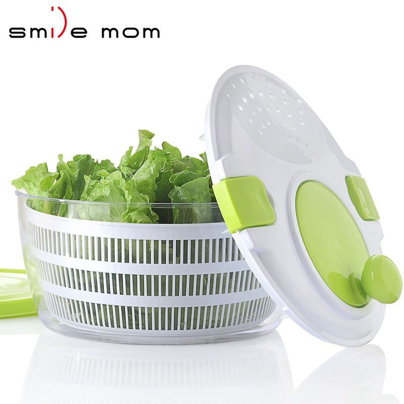 D650 Kitchen Appliance Tools Salad Mixer Plastic Manual Fruit and Vegetable Salad spinner