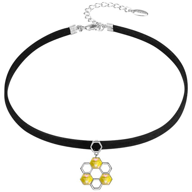 XUPING N1906233 Crystals from Swarovski Rhinestones pendant insect bee hive black choker necklace