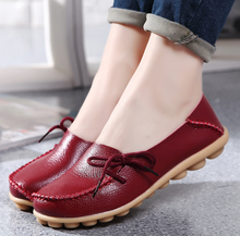 Flat genuine leather pregnant women shoes 2019