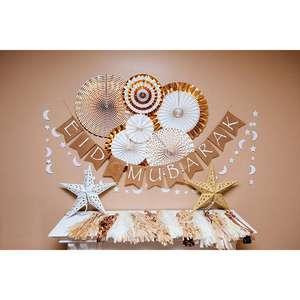 Party Producten Eid Mubarak Banner En Krans Set Thema Party Eid Decoraties
