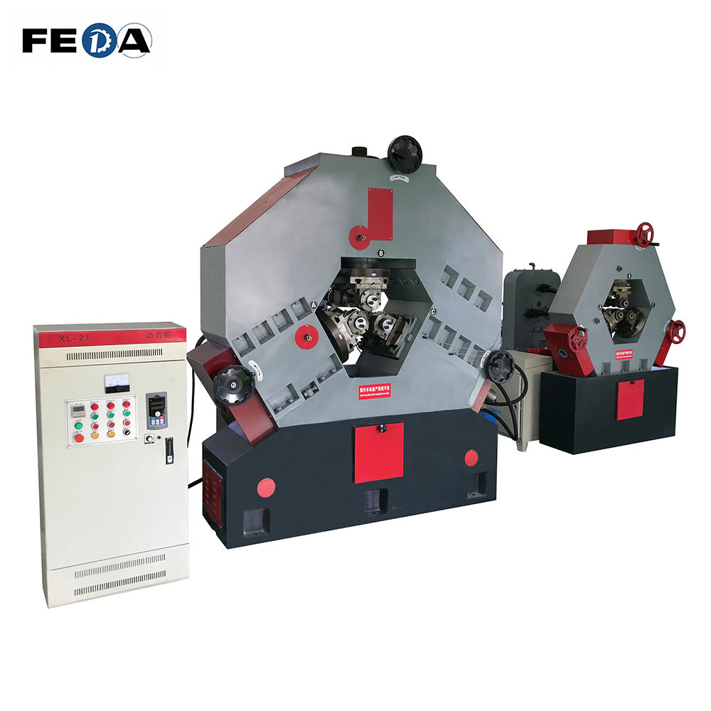 FEDA automatic high precision screw forming machine steel bar thread rolling machinery U bolt making machine
