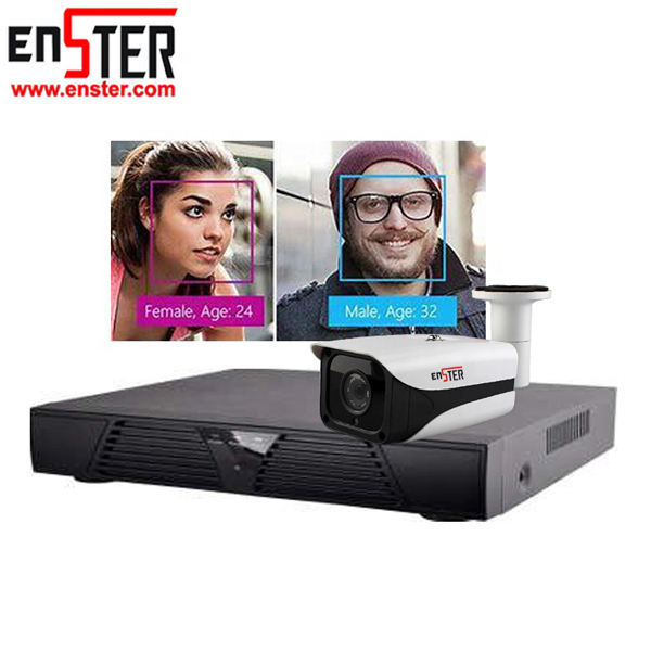 ENSTER Gesicht Anerkennung IP Kamera NVR Kit 2.0MP H.264 Full HD 1080 p 4CH NVR Identifizieren Gesicht Feature