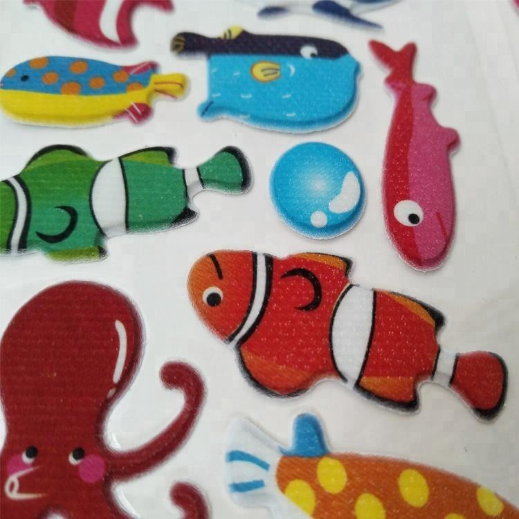 Promotionele 3d craft foam puffy stickers voor kids