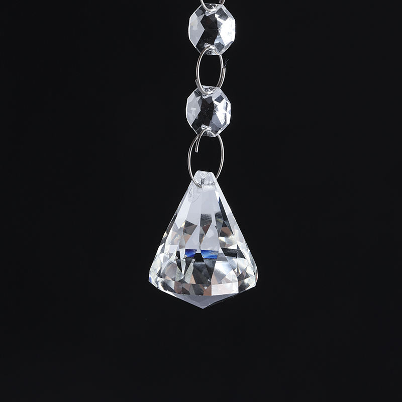 Sale 40mm K9 Crystal diamond shaped Ball for decoration, hanging ball crystal pendant for wedding decoration
