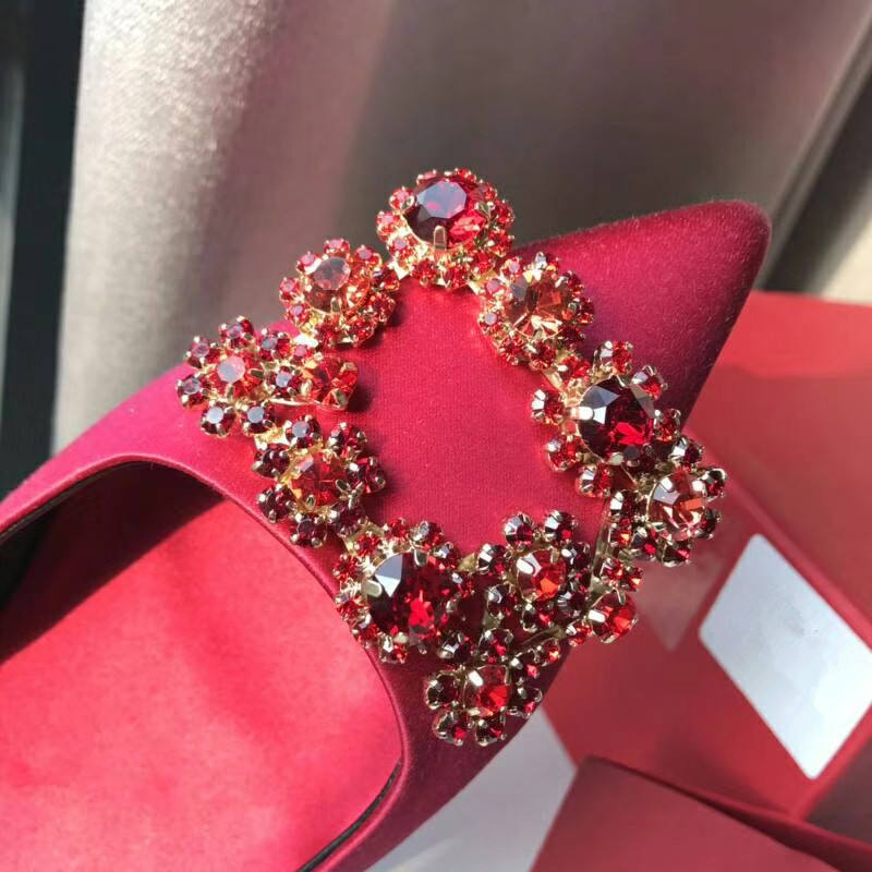 Bridal Shoe Clip Bling Crystal Square Rhinestone Hot Sell Wedding Shoe Decorations Metal