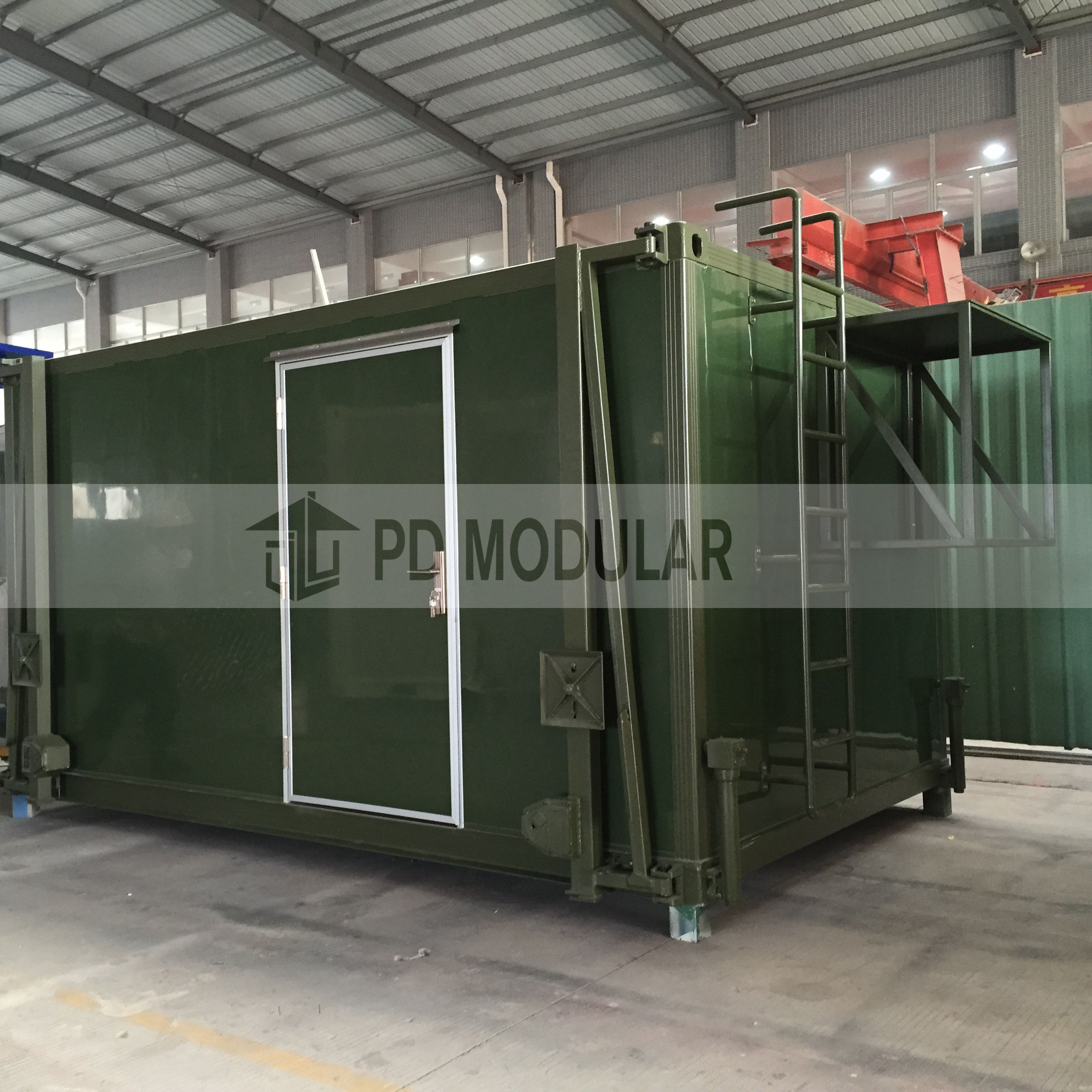Low price good prefab logistic container military shelter for army