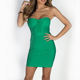 2018 New Style Green Sweetheart Bandage Strapless Bodycon Mini Dress