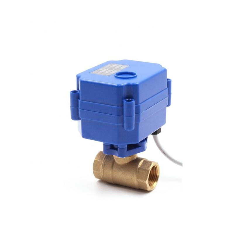 Low price cwx-15n/q dn15 cr01 3-6v brass bsp power run valve pass the water power off valve stop water flow automatic ball valve