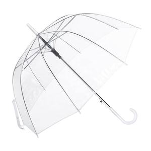 OVIDA WHOLESALE CUSTOM FASHION PROMOTIONAL PVC DOME TRANSPARENT STRAIGHT UMBRELLA