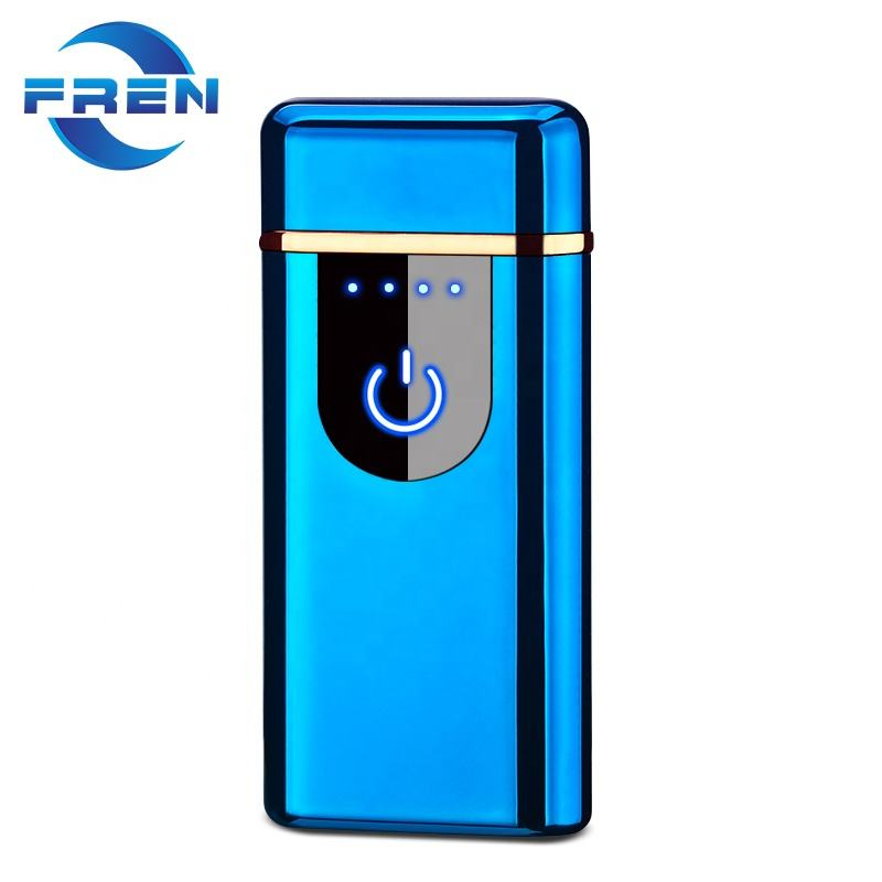 Rechargeable Dual Arc Plasma Beam Lighter Portable Electric Windproof Lighter, Air Touch Ignition,Battery Indicator lighter