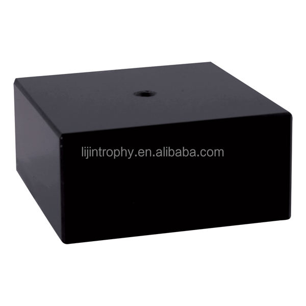 Promotional shaped trophy black marble trophy bases